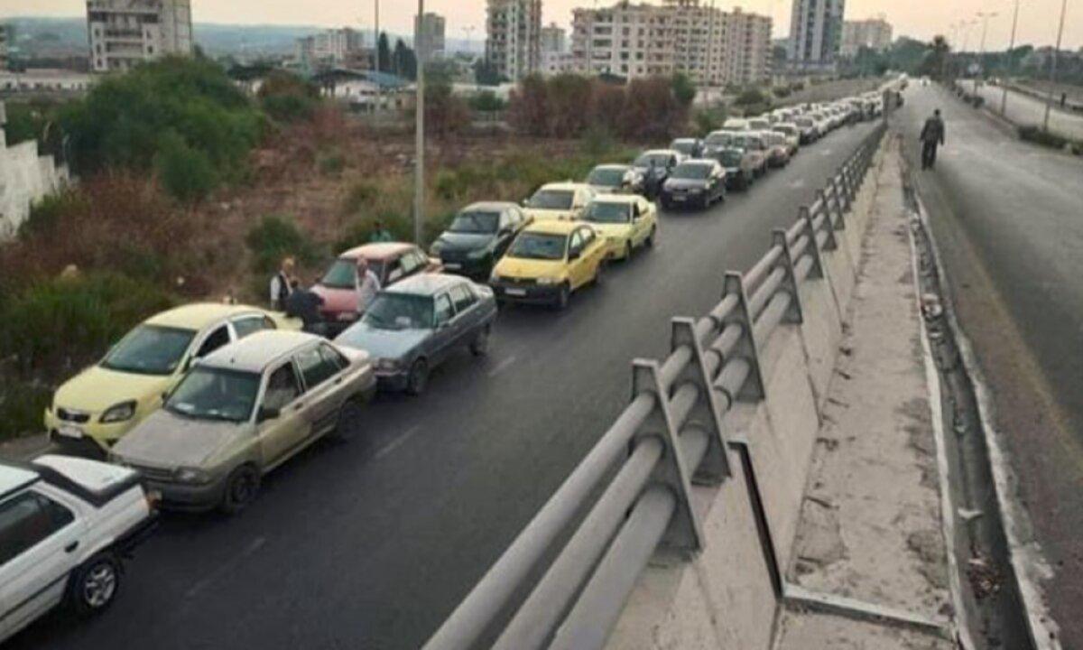 طوابير الوقود في سوريا - اللاذقية