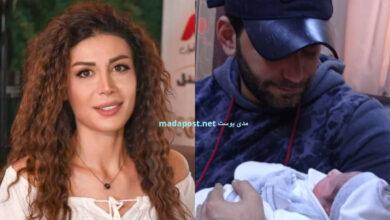 Photo of الفنانة روبين عيسى وزوجها الكابتن علي جلول يرزقان بمولودهما الأول ورد (صور)