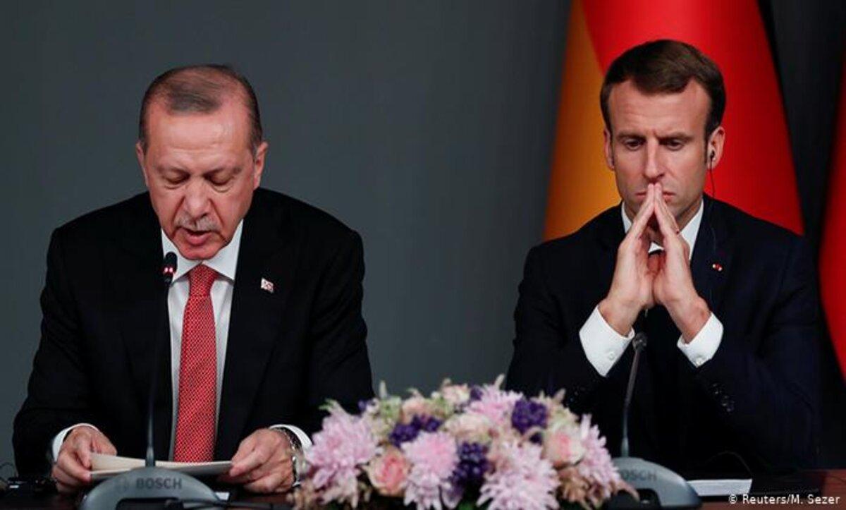 الرئيس التركي رجب طيب أردوغان وإيمانويل ماكرون