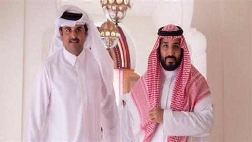 محمد بن سلمان مع تميم