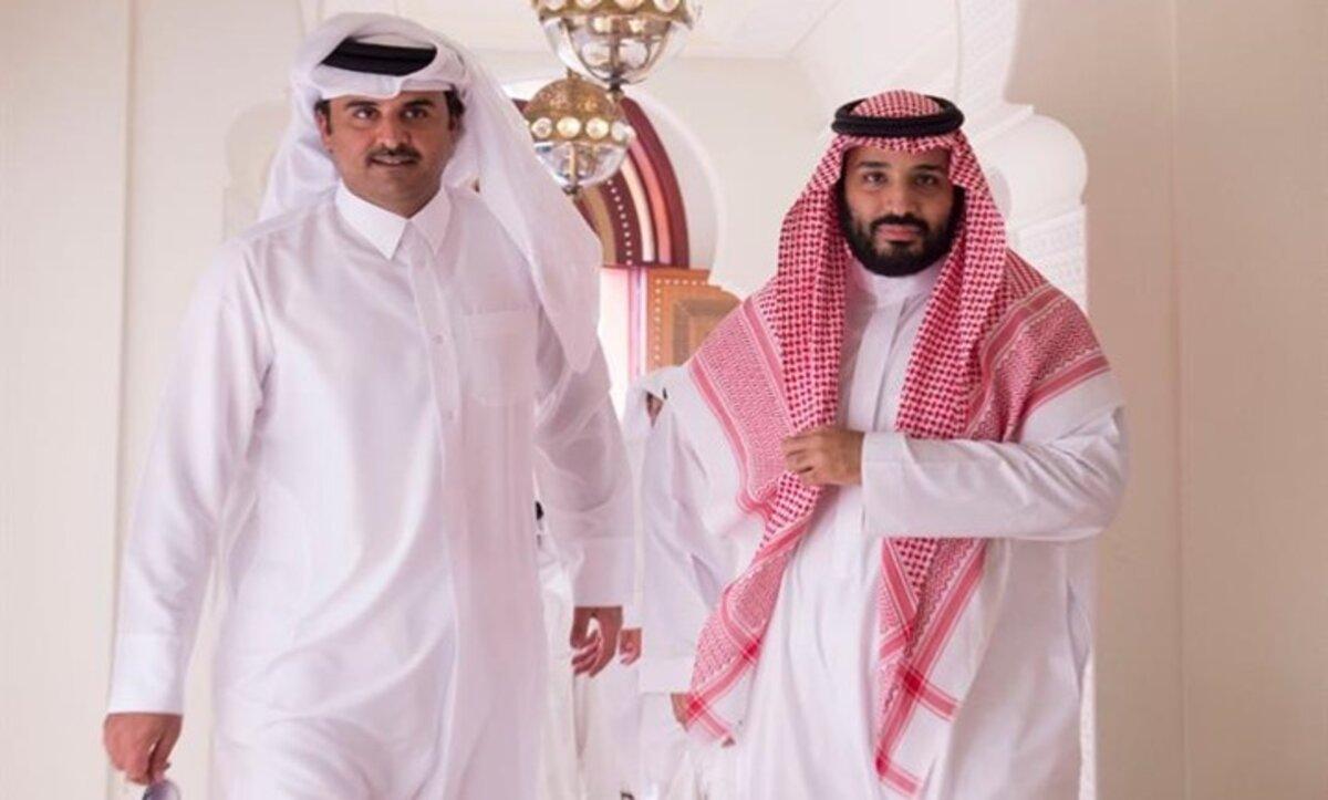بن سلمان وأمير قطر - أرشيف
