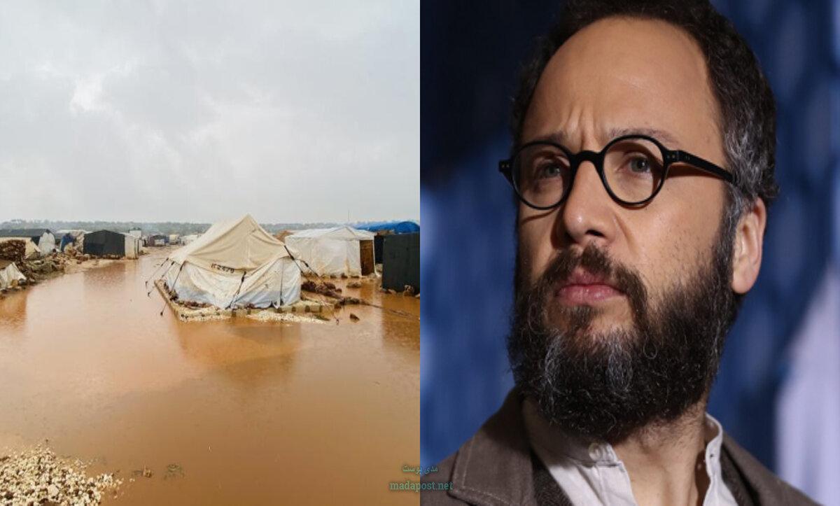 مكسيم خليل يتضامن مع نازحي المخيمات ويوجه رسالة إلى من يريد المساعدة