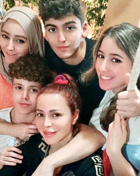 سوزان نجم الدين وأولادها
