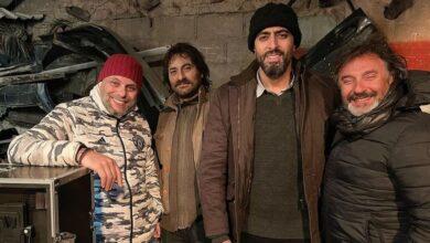 Photo of باسم ياخور وشادي الصفدي من كواليس مسلسل في وضح النهار (صورة)