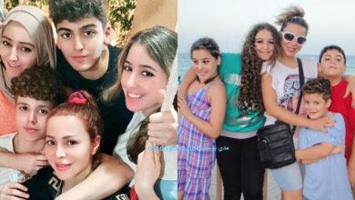 Photo of سوزان نجم الدين تودع أبنائها الأربعة بعد رحلة قصيرة لهم في مصر (صور)