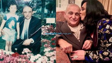 Photo of سلاف فواخرجي تعايد والدها بمناسبة عيد ميلاده وتوجه له رسالة مؤثرة (صور)