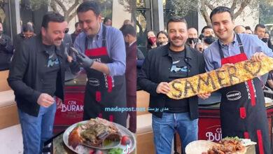 Photo of سامر المصري في ضيافة الشيف بوراك في مطعمه الجديد في دبي (فيديو)