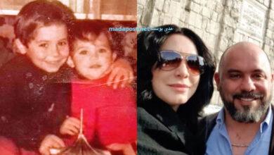 Photo of سلاف فواخرجي تعايد شقيقها أشرف بصورتين بين الماضي والحاضر (صور)