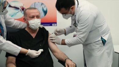 Photo of أردوغان يتلقى الجرعة الثانية من لقاح كورونا