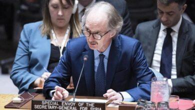 Photo of بيدرسون يتحدث عن تسوية شاملة في سوريا ويكرر حديثه عن محادثات اللجنة الدستورية