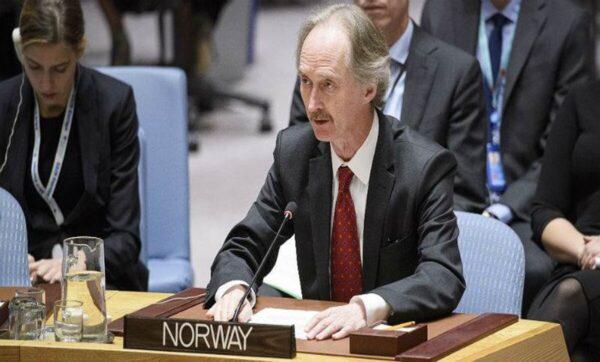 بيدرسون يتحدث عن تسوية شاملة في سوريا ويكرر حديثه عن محادثات اللجنة الدستورية