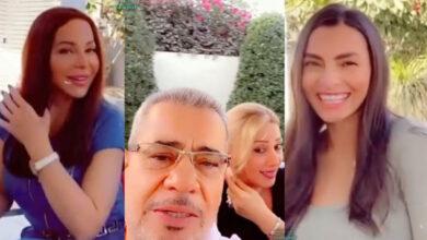 Photo of مصطفى الآغا ممازحاً فنان مصري في بيته: وحيداً بين ثلاث نساء (فيديو)