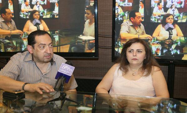 """متزوجة من الفنان """"سمير كويفاتي"""" وغنت شارات بعض المسلسلات السورية .. قصة المطربة الحلبية """"ميادة بسيليس"""" (فيديو)"""