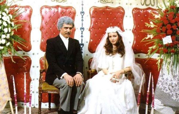 نادين خوري بصورة نادرة مع خالد تاجا: عروسين في حفل زفافهما