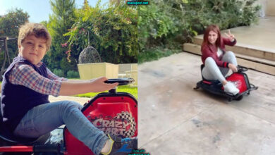 Photo of هبة نور تستذكر طفولتها بالركوب على لعبة تيمو (فيديو)