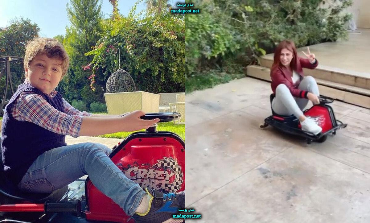 هبة نور تستذكر طفولتها بالركوب على لعبة تيمو (فيديو)