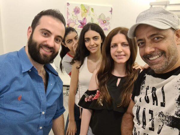 آمال سعد الدين وبناتها