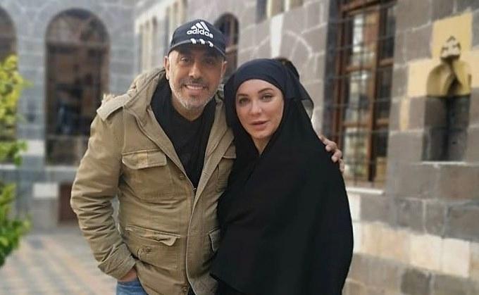 سلاف فواخرجي وسمير حسين