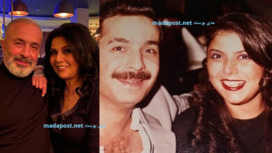 Photo of صباح الجزائري تعايد زوجها في عيد الحب بصورة من شبابهما وتعلق: حبيتك وبحبك اليوم وكل يوم (صور)
