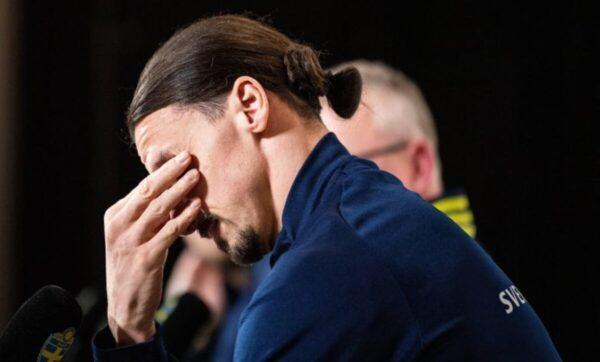 إبراهيموفيتش يبكي خلال مؤتمر صحفي بعد قرار عودته لمنتخب السويد