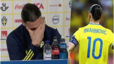 Photo of إبراهيموفيتش يبكي خلال مؤتمر صحفي بعد قرار عودته لمنتخب السويد (فيديو)