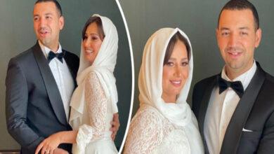Photo of أول ظهور للزوجين معز مسعود و حلا شيحة بعد عقد قرانهما