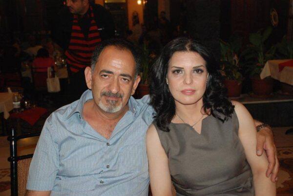 جهاد الزغبي وزوجته
