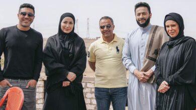 Photo of نسرين طافش بالحجاب في كواليس مسلسل المداح.. والعرض رمضان 2021 (صور)