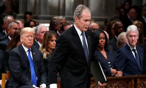 جورج بوش يتحدث عمن صوت له في الانتخابات الأمريكية: ليس ترامب ولا بايدن