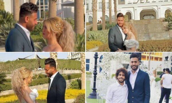 مصر: لاعب نادي الزمالك محمد أبو جبل يحتفل بـ زفافه من ملكة جمال الجزائر (فيديو)