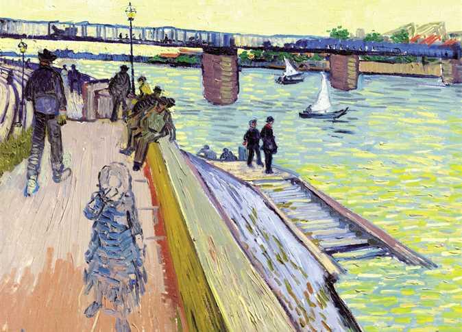 """رصد دار """"كريستيز للمزادات"""" مبلغ يتراوح بين 25 مليون دولار و35 مليون دولار، للوحة الفنان العالمي فان جوخ بعنوان """"Le Pont de""""، والتي ترجع لعام 1888. ومن المقرر عرض اللوحة في مزاد فني علنى في نيويورك 13 مايو القادم،"""