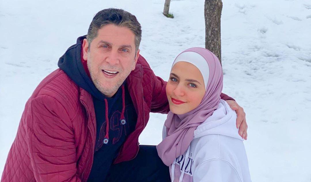محمد قنوع وابنته ماسة