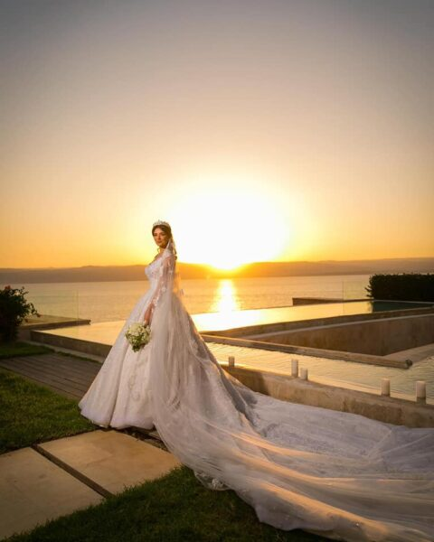 زواج لينا قيشاوي