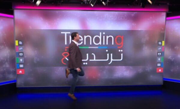 """""""أحمد فاخوري"""" بعضلات مركبة على جسد آخر في حواره مع مدربة اللياقة البدنية """"سارة بوبفيت"""" (فيديو)"""