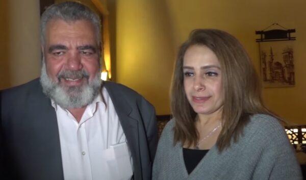 غسان عزب وزوجته