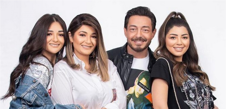 """أحمد زاهر وبناته ليلى وملك يدعموا أختهم الصغرى منى في أول ظهور لها على الشاشة بمسلسل """"ليه لأ"""""""