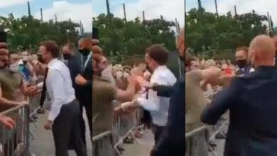 Photo of ماكرون يتعرض للخديعة أمام حشد من الناس في فرنسا (فيديو)