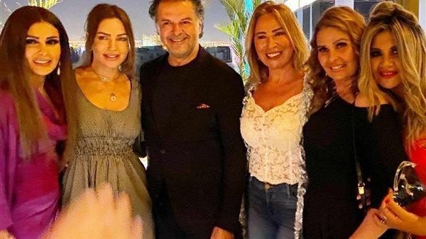 بوسي شلبي ونجوم الفن يحتفلون بعيد ميلاد راغب علامة بالشيخ زايد في القاهرة