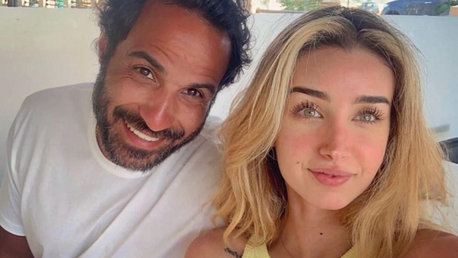 """هنا الزاهد تهنئ زوجها أحمد فهمي على فيلمه الجديد """"العارف"""""""