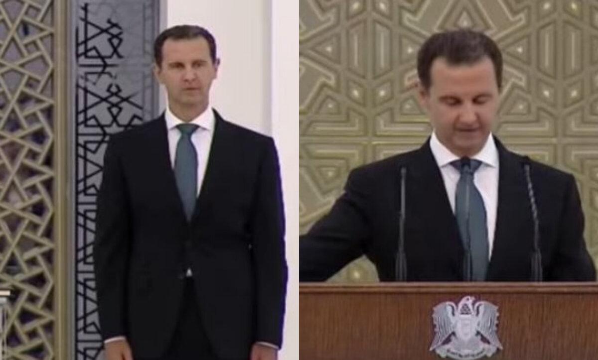 بشار الأسد يقسم على تقسيم سوريا ويؤكد استمراه التمسك بالسلطة (فيديو)