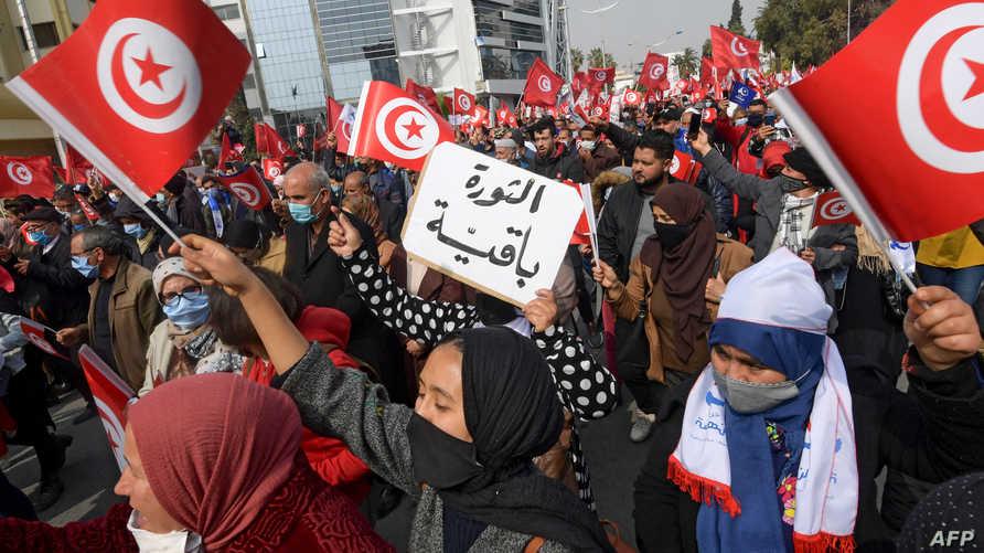 """تونس.. """"الاتحاد العام للشغل"""" يدعو قيس سعيد لإعادة العلاقات مع نظام الأسد"""