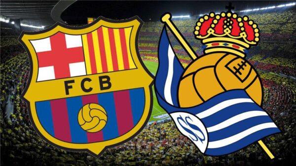 مباراة برشلونة و ريال سوسيداد في الدوري الإسباني لكرة القدم