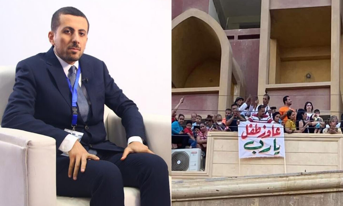 """مسلم مصري يتكفل بعلاج قبطي رفع لافتة """"عايز طفل يارب"""" ويوضح تفاصيل القصة (صور-فيديو)"""
