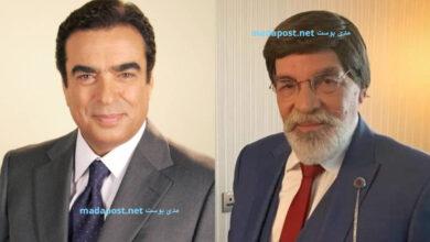 Photo of جلسة ودية تجمع ياسر العظمة وجورج قرداحي في دبي (صورة)
