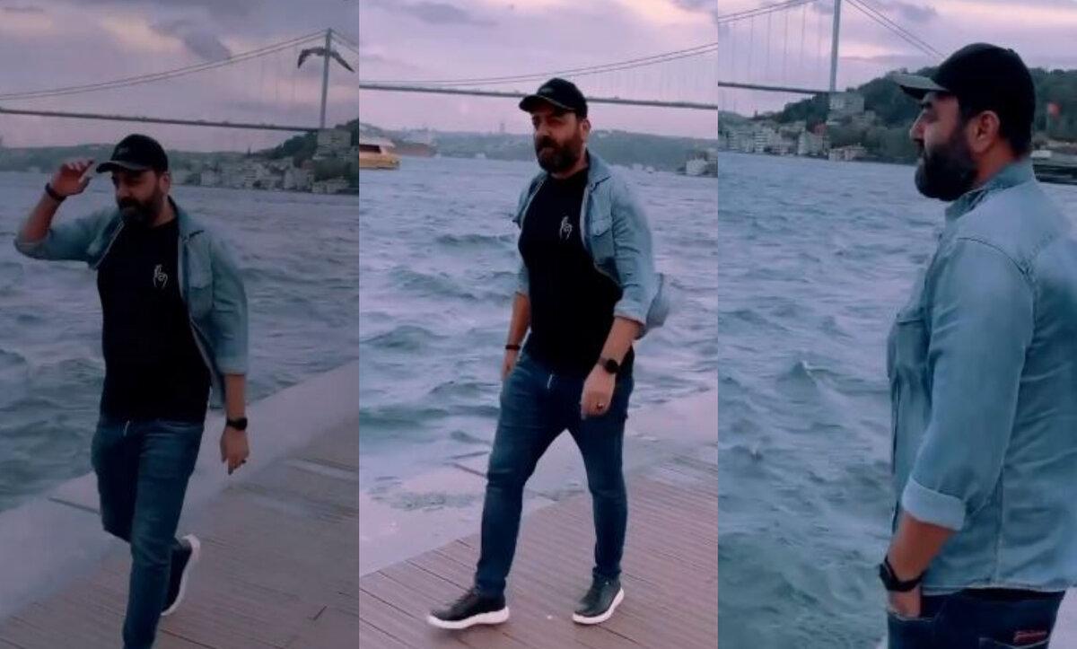 العكيد أبو شهاب في إسطنبول قرب جسر البوسفور ضمن فيديو أغنية تركية للفنان إمره أيدن