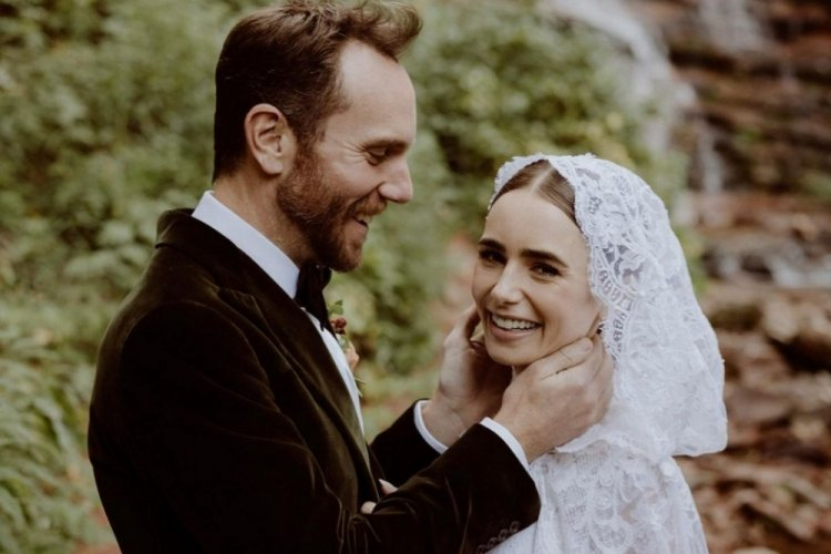 نجمة مسلسل إيميلي في باريس ليلى كولينز تتزوج من المخرج شارلي ماكدويل